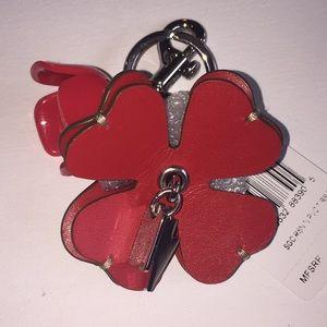 de75b026 Coach tea rose bag charm key fob NWT